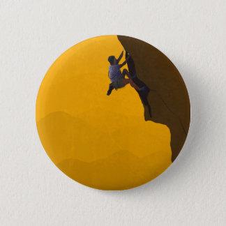 Führungs-Aufstiegs-Kletterer-Illustration Runder Button 5,1 Cm