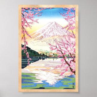 Fuji von Schienbein Kawaguchi Okada Koichi hanga J Poster