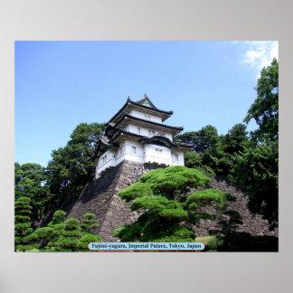 Fujimi-yagura, Kaiserpalast, Tokyo, Japan Poster