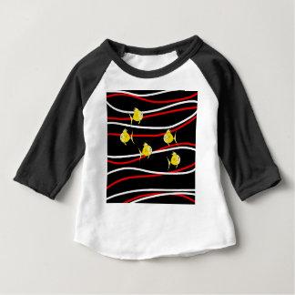 Fünf gelbe Fische Baby T-shirt