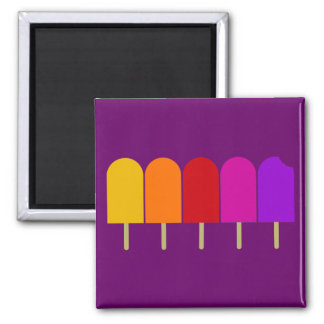 Fünf Popsicles Quadratischer Magnet