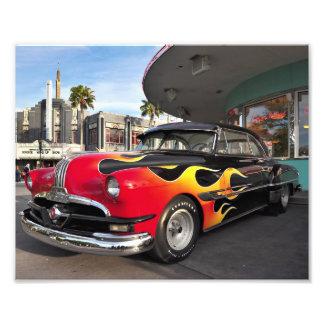Fünfzigerjahre Amerikaner-frisiertes Auto Kunst Foto