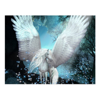 Funkeln Pegasus Postkarte
