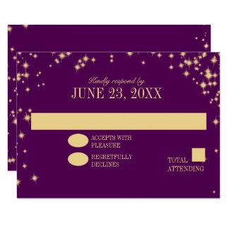 Funkeln spielen Hochzeits-Antwort die Hauptrolle 8,9 X 12,7 Cm Einladungskarte