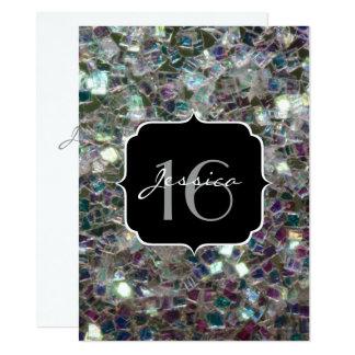 Funkelnd bunter silberner Mosaik Bonbon 16 laden 14 X 19,5 Cm Einladungskarte