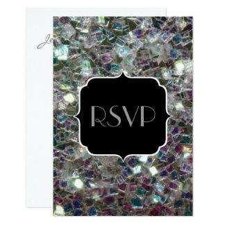 Funkelnd buntes silbernes Mosaik Bonbon 16 UAWG 8,9 X 12,7 Cm Einladungskarte