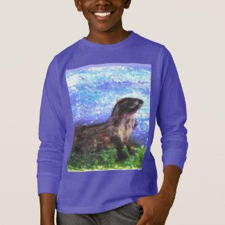 Funkelnd Fluss-Otter-Kunst T-Shirt
