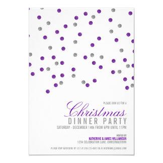 Funkelnd Glitzer punktiert WeihnachtsParty 12,7 X 17,8 Cm Einladungskarte