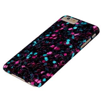 Funkelnd rosa blaue Mosaik-Glitter-Glitzern Barely There iPhone 6 Plus Hülle