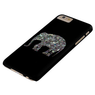 Funkelnd silbernes Mosaik Elefant iPhone 6 Plus Barely There iPhone 6 Plus Hülle