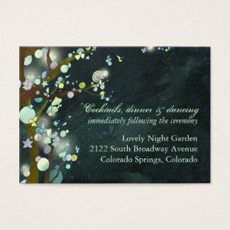 Funkelnde Fairytale-Hochzeits-Empfangs-Einsätze Visitenkarte