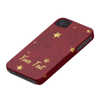 Funkelndes Sterne königliches Rot Case-Mate iPhone 4 Hülle
