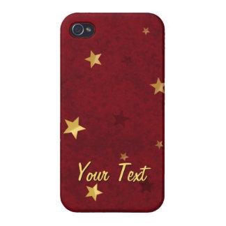 Funkelndes Sterne königliches Rot iPhone 4/4S Case