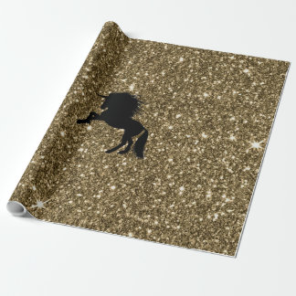 FunkelnEinhorn golden Geschenkpapierrolle