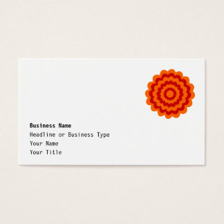 Funky Blume in Orange und in Rotem Visitenkarten