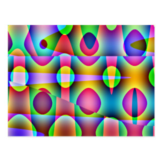 Funky buntes abstraktes postkarte