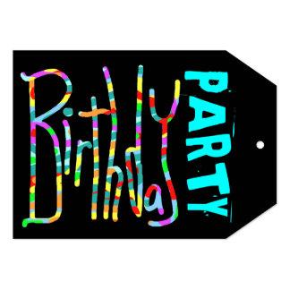 Funky schwarze der Geburtstags-Party Einladungen