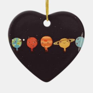 Funny planet keramik Herz-Ornament