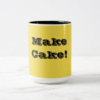 Für den Bäcker in Ihnen! Zweifarbige Tasse
