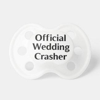 Für den offiziellen Crasher Hochzeit des Babys Baby Schnuller