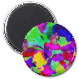 Für die Liebe der Farbe - Kaleidoskop Runder Magnet 5,1 Cm