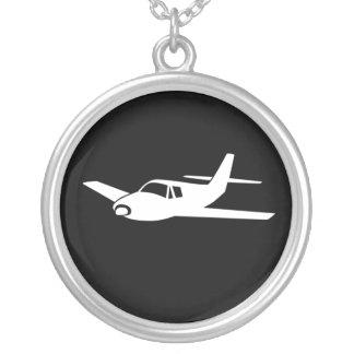 Für die Liebe der Fliegenflugzeughalskette Versilberte Kette
