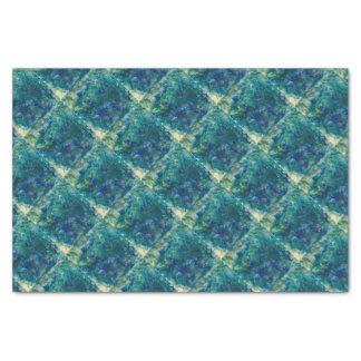 Für die Liebe des Gebens - blaue Wasserfarbe Seidenpapier