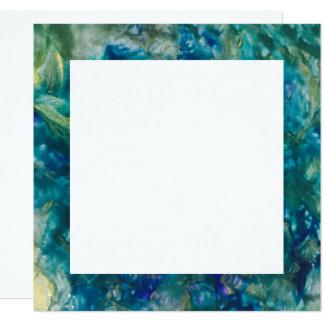 Für die Liebe von Feiern - Farben-Grenze laden ein Quadratische 13,3 Cm Einladungskarte