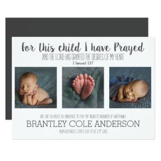 Für dieses Kind habe ich Geburts-Mitteilung 12,7 X 17,8 Cm Einladungskarte