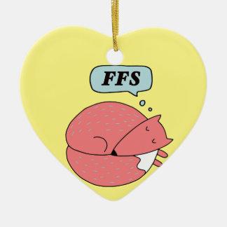 Für Fox-Grund Keramik Ornament