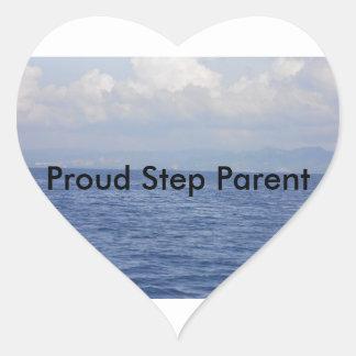 Für gemischte Familien Herz-Aufkleber