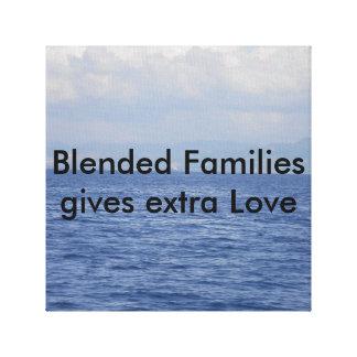 Für gemischte Familien Leinwanddruck