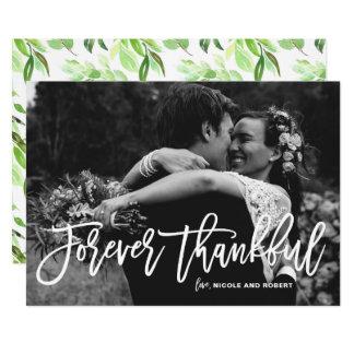 Für immer danken dankbare Hand beschriftete 12,7 X 17,8 Cm Einladungskarte