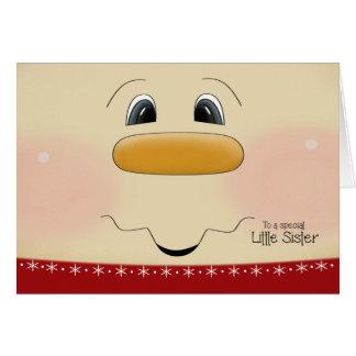 Für kleine Schwester-Weihnachtsglückliches Karte