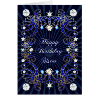 Für Schwester eine Geburtstagskarte mit Massen der Karte