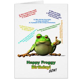 Für Sohn scherzt Lose von Froggy Geburtstags-Karte