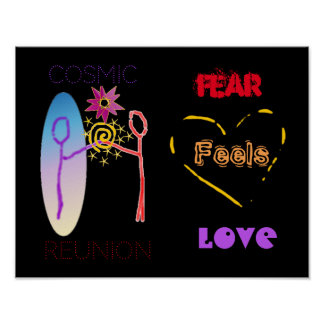 """Furcht glaubt Liebe-"" Plakat"