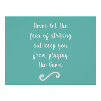 Furcht vor Plakat heraus schlagen