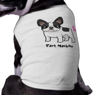 Furz-Maschine (französische Bulldogge) Ärmelfreies Hunde-Shirt