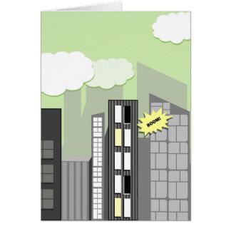 Fusion scherzt Superstadt Grußkarte