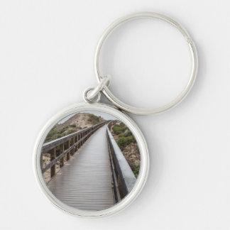 Fuß-Brücke Oso Flaco am See-Staats-Park Schlüsselanhänger