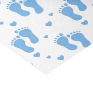 Fuß-Seidenpapier des Babys blaues Seidenpapier