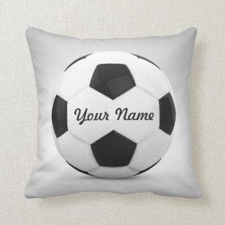 Fußball-Ball-personalisierter Name Zierkissen