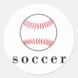 Fußball-Baseball-lustiger unglaublich witzig Runder Aufkleber