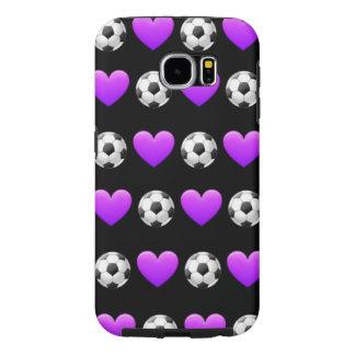 Fußball Emoji Samsung Telefon-Kasten Galaxie-S6