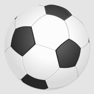 Fußball-Fußball-Illustrations-Aufkleber Runder Aufkleber