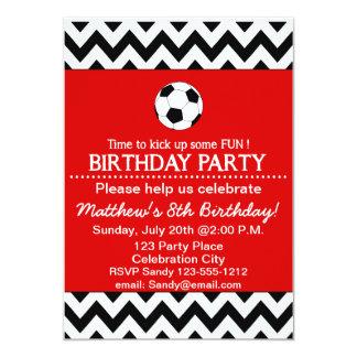 Fußball-Geburtstags-Party scherzt die 12,7 X 17,8 Cm Einladungskarte