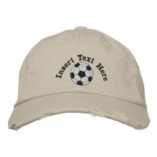 Fußball gestickter Hut Bestickte Baseballmützen