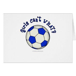 Fußball im Blau Grußkarte