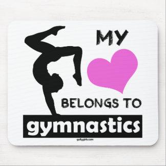 Fußball ist mein LifeMy Herz gehört Gymnastik Mauspad